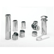 18cm x 90cm Dura Vent Duratech Chimney Length, 430-alloy Stainless Inner Liner, Stainless Outer per EA