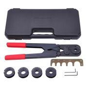 5in1 Pex Crimper Kit 1cm 1.3cm 1.6cm 1.9cm 2.5cm Crimping Plumbing Copper Ring Tool