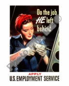 Do the Job He Left Behind - World War Two - 8x10 Glossy Photo