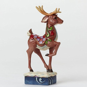 Jim Shore for Enesco Heartwood Creek Pint Sized Reindeer Figurine, 13cm