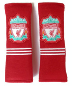 2 X Seat Belt Cover Shoulder Pads Covers Cushion Liverpool Fc Logo