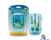 Safe Baby Nail Clippers Set with Baby Scissors, Baby Clipper, and File. Complete Safe Care for All Children, Newborns, or Infants.