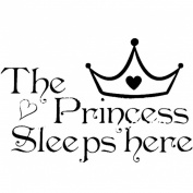 BestNow The Princess Wall Stickers Sleeps Here Home Decoration Art Decor