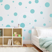 Assorted Vinyl Polka Dots circle wall decals vinyl stickers nursery decor