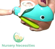 "NAIL WHALE - #1 BEST Baby & Child Nail Clippers - ""Eats"" Clippings - Magnifier & Finger Safety Stabiliser - By Nursery Necessities"