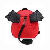 E'Plaza New Bat Walking Safety Harness Reins Toddler Strap Bag Red for Kids Children