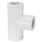 PVC Sch 40 Tee Slip X Fip 1.3cm Mueller B and K Pvc Compression Fittings 405-005