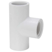PVC Sch 40 Slip X Fip Tee 1.3cm Mueller B and K Pvc Compression Fittings 402-005