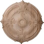 Ekena Millwork CMW20ACRO 50cm OD x 4.4cm P Carved Acanthus Leaf Ceiling Medallion, Red Oak