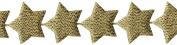 "Star Banner Metallic Ribbon 2.5cm - 1.3cm ""X10yd-Gold"
