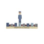 Air Force Bead Block on Base Figurine