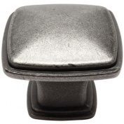 Cosmas® 4391WN Weathered Nickel Modern Cabinet Hardware Knob - 2.5cm - 0.6cm Inch Square