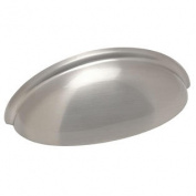 Cosmas 783SN Satin Nickel Cabinet Hardware Bin Cup Drawer Handle Pull - 7.6cm Hole Centres