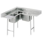 Corner 220cm x 220cm 3 Compartment Scullery Sink