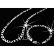 Silver Necklace and Bracelet Set Tuff Style Limited Item SSL582
