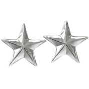 Western Cufflinks Mens Smooth Sterling Star Silver 028-110