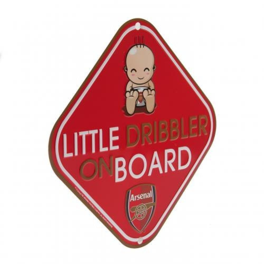 53ffdfe664de4 Car Accessories - Official Arsenal FC Little Dribbler Window Sign ...
