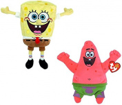 Ty Beanie Babies - Spongebob Squarepants & Patrick Star Best Day Ever Soft Toy Pair