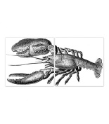 Tile Stickers for Kitchen or Bathroom Lobster