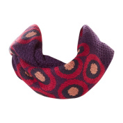 Amtal Multi Colour Abstract Circle Knit Infinity Scarf