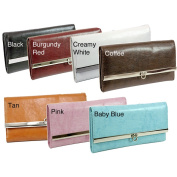 Dasein Classic Faux Leather Fold-over Chequebook Wallet