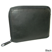 Hollywood Tag Leather Bi-fold Zip-around Wallet