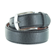 Faddism Unisex Croc Embossed Genuine Leather Belt