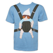 The Hangover Baby Carrier Light Blue Graphic T-Shirt
