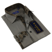 Rashbi Men's Brown Dress Shirt