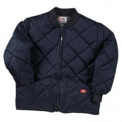 Men's Dickies Diamond Quilted Nylon Jacket Dark Navy