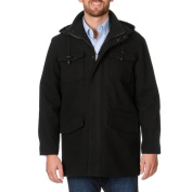 West End Young Men's 'Westin' Black Twill Winter Coat