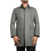Verno Emon Light Grey Wool Blend Peacoat