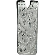 Western Mens Money Clip Fully Hand Engraved Silver 021-002