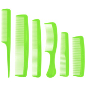Promobo Set of 6 Styling Hair Comb Green