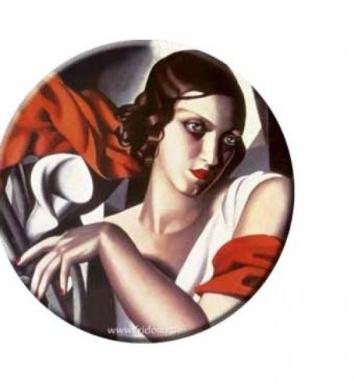 Pocket mirror Lempicka: Portrait of Ira P.