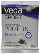 Sport Performance Protein Drink Mix, Chocolate Flavour, 12 Packets - Vega