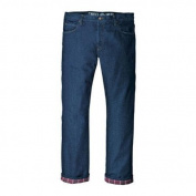 Men's Dickies Relaxed Straight Fit Flannel-Lined Jean 80cm Inseam Indigo Blue