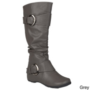 Journee Collection Women's 'Paris' Regular and Wide-calf Slouch Buckle Knee-high.. Boot