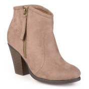 Journee Collection Women's 'Link' High Heel Faux Suede Ankle Booties