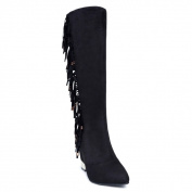 Ann Creek Women's 'Jules' Fringe and Plated Heel Boots
