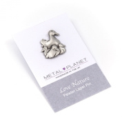 Duck family pewter pin badge by Metal Planet, UK. Gift