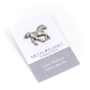 Horse pony pewter pin badge by Metal Planet, UK. Gift
