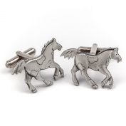 Horse pewter cufflinks by Metal Planet, UK