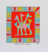 James Rizzi Spring Into Action, Lithographie Art Painting Print No frame