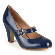 Journee Collection Women's 'Wendy-2.7m Mary Jane Faux Leather Pumps