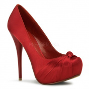 Pleaser Day & Night Women's 'GORGEOUS-8.5m Hidden Platform Knotted Pumps