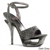 Pleaser Day & Night Women's 'Deluxe-631RS' Rhinestone Cut-out Platform Heels