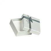 jouailla - Ecrin Storage Box Light Grey Iridescent Silver Knot