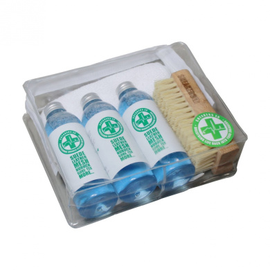 SNEAKERS ER Hand Luggage Travel Kit Cleaning Solution 3 x 100ml For Suede Leather Gore-Tex Canvas Textiles Shoes