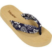 Women's Tidewater Sandals Navy Bandana Navy/White